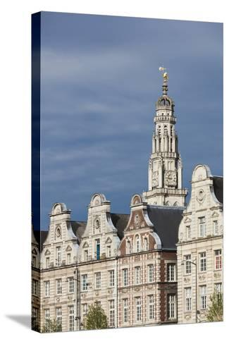 Grand Place Buildings in the Morning, Arras, Pas De Calais, France-Walter Bibikow-Stretched Canvas Print
