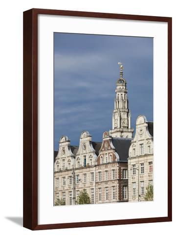 Grand Place Buildings in the Morning, Arras, Pas De Calais, France-Walter Bibikow-Framed Art Print