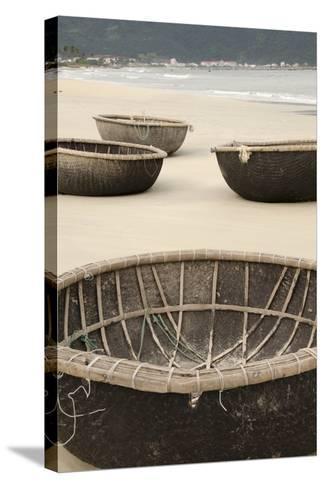 Traditional Fishing Boats, Bac My an Beach, Hoi An, Da Nang, Vietnam-Cindy Miller Hopkins-Stretched Canvas Print