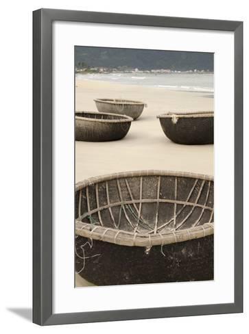 Traditional Fishing Boats, Bac My an Beach, Hoi An, Da Nang, Vietnam-Cindy Miller Hopkins-Framed Art Print