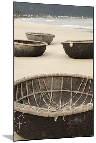 Traditional Fishing Boats, Bac My an Beach, Hoi An, Da Nang, Vietnam-Cindy Miller Hopkins-Mounted Photographic Print