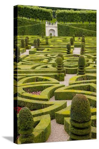 Formal Gardens of Chateau Villandry, Loire Valley, France-Brian Jannsen-Stretched Canvas Print