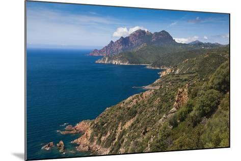 Elevated View of Golfe De Girolata Gulf, Corsica, France-Walter Bibikow-Mounted Photographic Print
