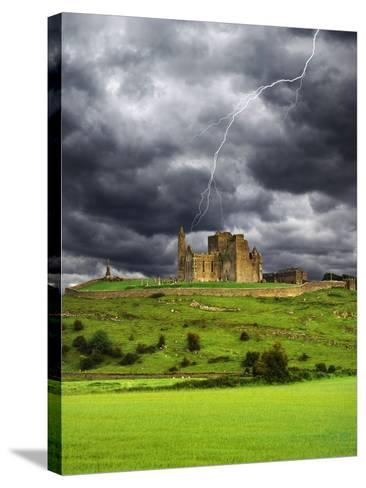 Lightning over Ruins of the Rock of Cashel, Tipperary County, Ireland-Jaynes Gallery-Stretched Canvas Print