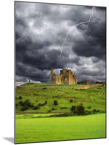 Lightning over Ruins of the Rock of Cashel, Tipperary County, Ireland-Jaynes Gallery-Mounted Photographic Print