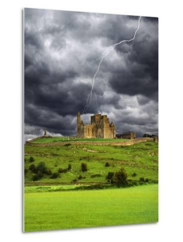 Lightning over Ruins of the Rock of Cashel, Tipperary County, Ireland-Jaynes Gallery-Metal Print