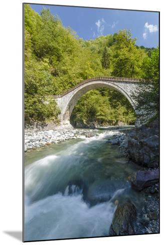 River and Stone Bridge, Rize, Black Sea Region of Turkey-Ali Kabas-Mounted Photographic Print