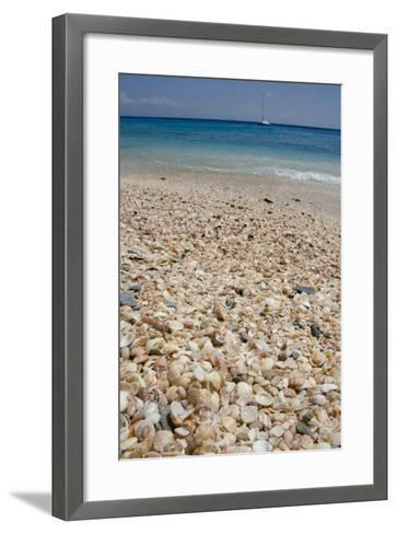 Capital City of Gustavia, Shell Beach, St. Bart's, West Indies-Cindy Miller Hopkins-Framed Art Print