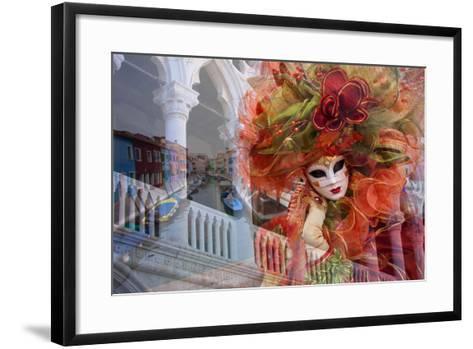 Elaborate Costumes for Carnival Festival, Venice, Italy-Jaynes Gallery-Framed Art Print