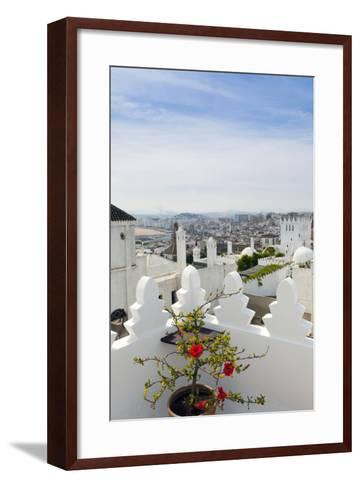 View of Tangier from the Medina, Tangier, Morocco-Nico Tondini-Framed Art Print