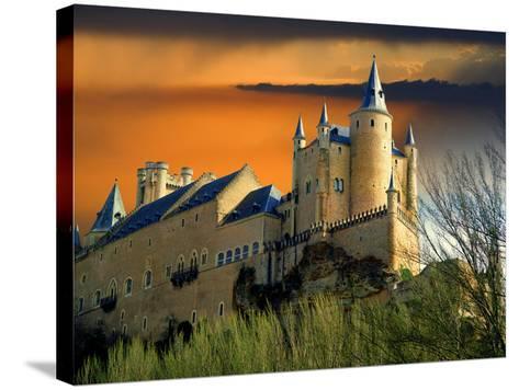 Alcazar Castle at Sunset, Segovia, Spain-Jaynes Gallery-Stretched Canvas Print