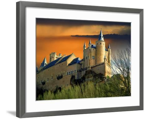 Alcazar Castle at Sunset, Segovia, Spain-Jaynes Gallery-Framed Art Print