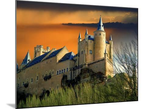 Alcazar Castle at Sunset, Segovia, Spain-Jaynes Gallery-Mounted Photographic Print