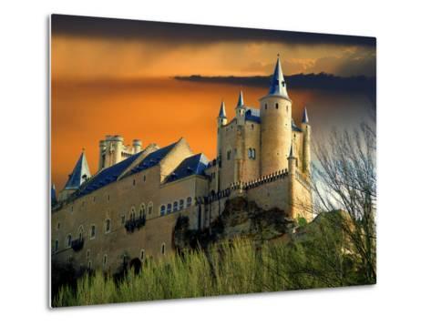 Alcazar Castle at Sunset, Segovia, Spain-Jaynes Gallery-Metal Print