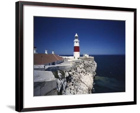 Lighthouse, Europa Point, Gibraltar, Spain-Walter Bibikow-Framed Art Print