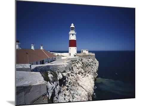 Lighthouse, Europa Point, Gibraltar, Spain-Walter Bibikow-Mounted Photographic Print