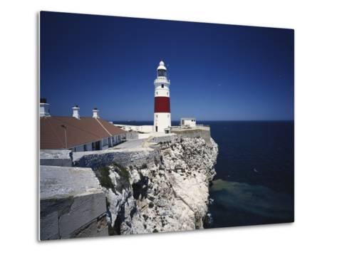 Lighthouse, Europa Point, Gibraltar, Spain-Walter Bibikow-Metal Print