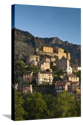 City and Citadel, Corte, Corsica, France-Walter Bibikow-Stretched Canvas Print