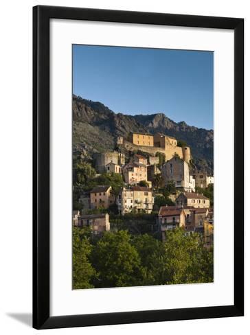City and Citadel, Corte, Corsica, France-Walter Bibikow-Framed Art Print
