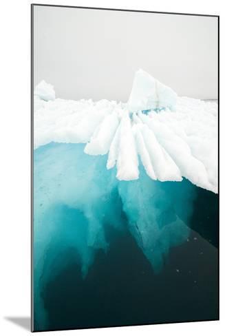 Glacial Iceberg Floating Along Coast, Spitsbergen, Svalbard, Norway-Steve Kazlowski-Mounted Photographic Print