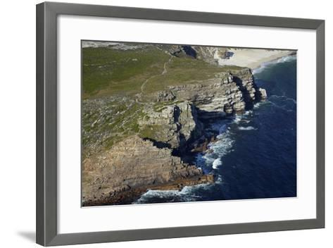 Aerial of Cape of Good Hope, Cape Peninsula, Cape Town, South Africa-David Wall-Framed Art Print