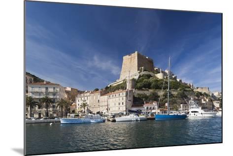 Port and Citadel at Morning, Bonifacio, Corsica, France-Walter Bibikow-Mounted Photographic Print