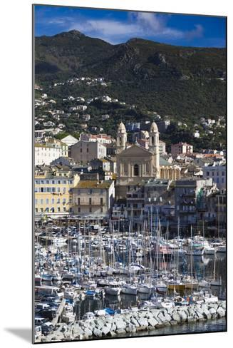 The Old Port, Elevated View of the Old Port, Bastia, Corsica, France-Walter Bibikow-Mounted Photographic Print