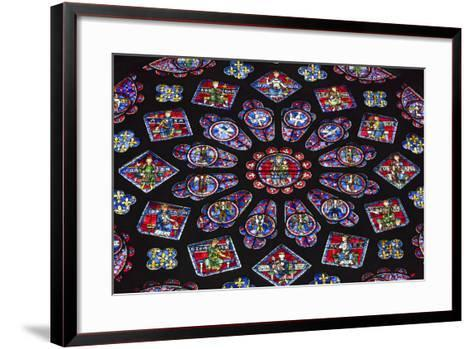 Chartres Cathedral, Stained Glass, Chartres, Eure Et Loir, France-Walter Bibikow-Framed Art Print