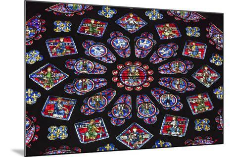 Chartres Cathedral, Stained Glass, Chartres, Eure Et Loir, France-Walter Bibikow-Mounted Photographic Print