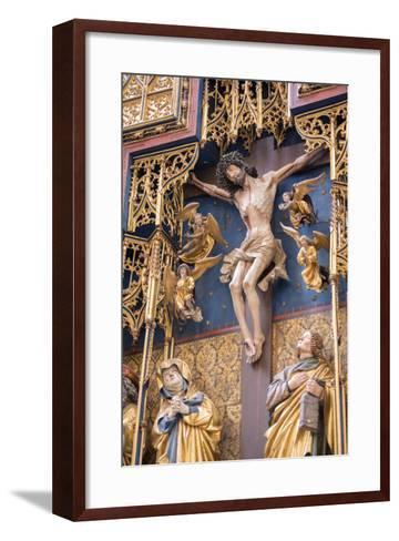 St. Jacobs Altar, Rothenberg Ob Der Tauber, Baden-Wurttemberg, Germany-Jim Engelbrecht-Framed Art Print