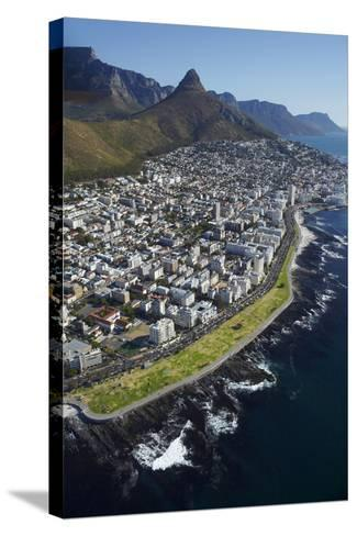 Sea Point Promenade, Lion's Head, Cape Town, South Africa-David Wall-Stretched Canvas Print
