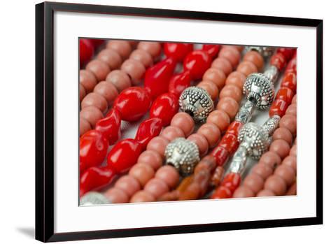 Glass and Silver Bead Necklaces, Otavalo Market, Quito, Ecuador-Cindy Miller Hopkins-Framed Art Print