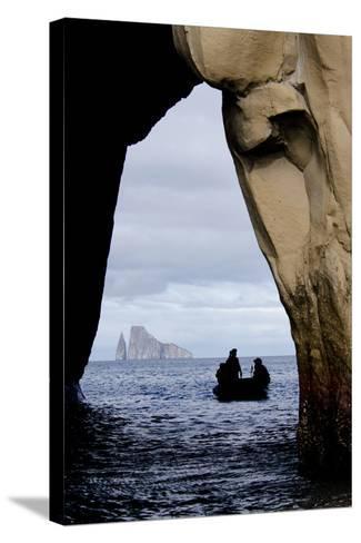 Kicker Rock Seen Through a Cave from San Cristobal, Galapagos, Ecuador-Cindy Miller Hopkins-Stretched Canvas Print