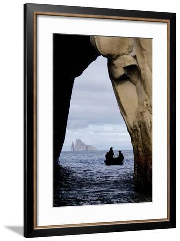 Kicker Rock Seen Through a Cave from San Cristobal, Galapagos, Ecuador-Cindy Miller Hopkins-Framed Art Print