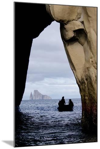 Kicker Rock Seen Through a Cave from San Cristobal, Galapagos, Ecuador-Cindy Miller Hopkins-Mounted Photographic Print