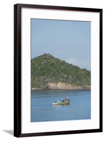 Colorful Fishing Boat Off the Coast of Buzios, Rio De Janeiro, Brazil-Cindy Miller Hopkins-Framed Art Print