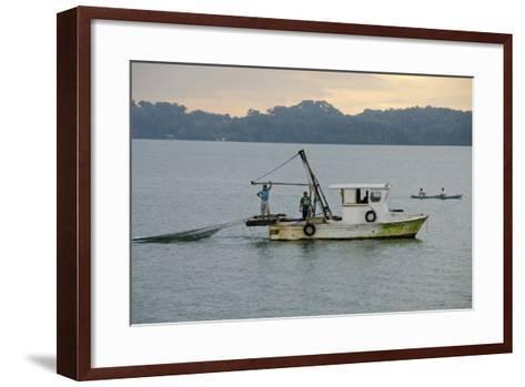 Early Morning Local Fishing Boat, Livingston, Rio Dulce, Guatemala-Cindy Miller Hopkins-Framed Art Print