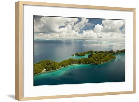 Aerial View of Rock Islands of Palau, Micronesia-Michel Benoy Westmorland-Framed Art Print