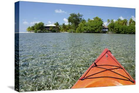 Kayaking in the Shallow Water, Southwater Cay, Stann Creek, Belize-Cindy Miller Hopkins-Stretched Canvas Print