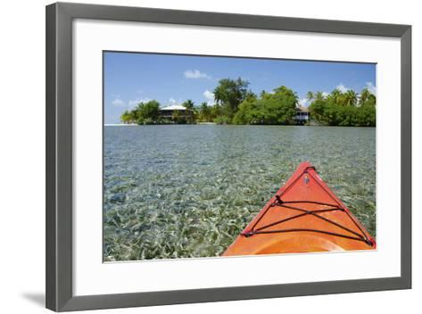 Kayaking in the Shallow Water, Southwater Cay, Stann Creek, Belize-Cindy Miller Hopkins-Framed Art Print