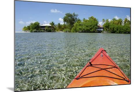 Kayaking in the Shallow Water, Southwater Cay, Stann Creek, Belize-Cindy Miller Hopkins-Mounted Photographic Print