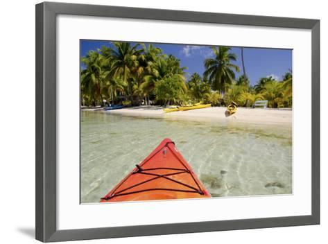 Kayaking in Clear Waters, Southwater Cay, Belize-Cindy Miller Hopkins-Framed Art Print