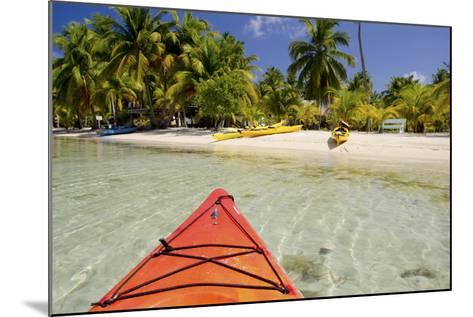 Kayaking in Clear Waters, Southwater Cay, Belize-Cindy Miller Hopkins-Mounted Photographic Print