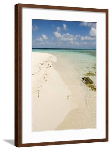 Sandy Beachfront View, Goff Caye, Belize-Cindy Miller Hopkins-Framed Art Print