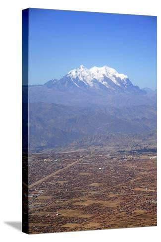 One of World's Highest City, Below the Illimani Mt, El Alto, Bolivia-Anthony Asael-Stretched Canvas Print