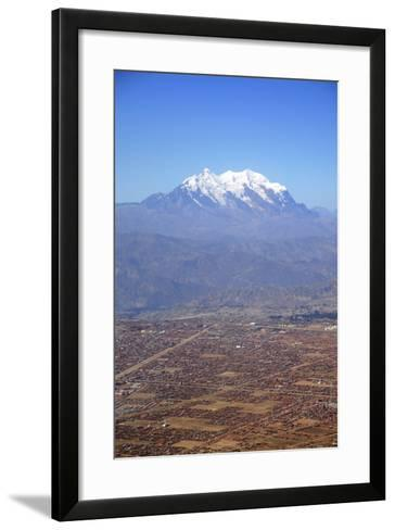 One of World's Highest City, Below the Illimani Mt, El Alto, Bolivia-Anthony Asael-Framed Art Print