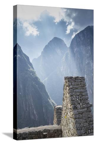 Machu Picchu Stone Walls with Mountains Beyond, Peru-John & Lisa Merrill-Stretched Canvas Print