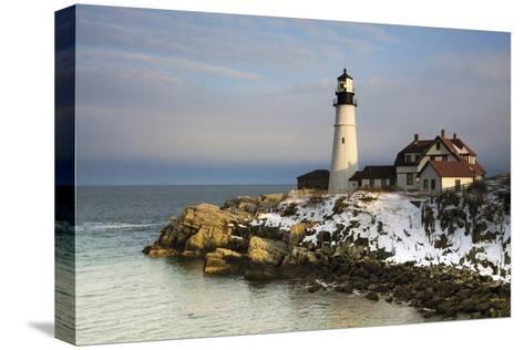 Portland Head Light, Cape Elizabeth, Casco Bay, Maine, USA-Michel Hersen-Stretched Canvas Print