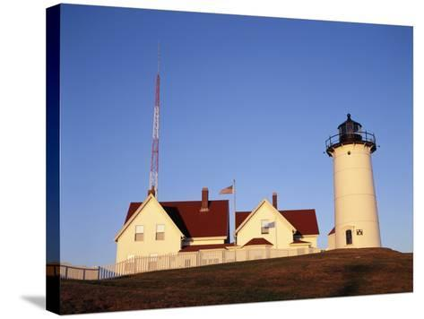 Nobska Lighthouse, Woods Hole, Cape Cod, Massachusetts, USA-Walter Bibikow-Stretched Canvas Print