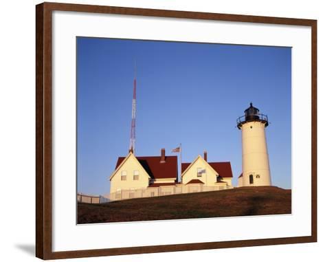 Nobska Lighthouse, Woods Hole, Cape Cod, Massachusetts, USA-Walter Bibikow-Framed Art Print